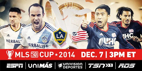 unnamed-19 THE 2014 MLS CUP FINAL IS SET: LA GALAXY VS NEW ENGLAND REVOLUTION AT STUBHUB CENTER ON SUNDAY, DECEMBER 7.