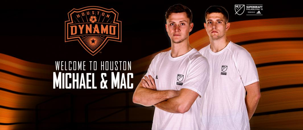 DL_signed_Michael_Mac PRO UPDATE: HOUSTON DYNAMO SELECT PLAYERS IN 2018 MLS SUPERDRAFT PRESENTED BY ADIDAS