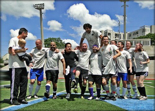 katol SOCCER IN THE STREETS WORKING: 125 ADULTS PARTICIPATED IN THE 3RD ATLANTA CHAMPIONS LEAGUE AT GRADY HIGH SCHOOL STADIUM