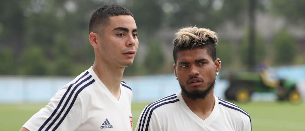 Almiron-and-Martinez-ASG-training ATLANTA UNITED ALERT: BETWEEN THE NEW YORK RED BULLS AND ATLANTA UNITED, STAR POWER WILL BE IN NO SHORT SUPPLY IN ATTACK