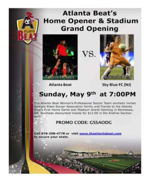 BeatOpening_Day_Flyer_1-300x364 OPENING DAY FOR ATLANTA'S ONLY PROFESSIONAL SOCCER TEAM, THE ATLANTA BEAT