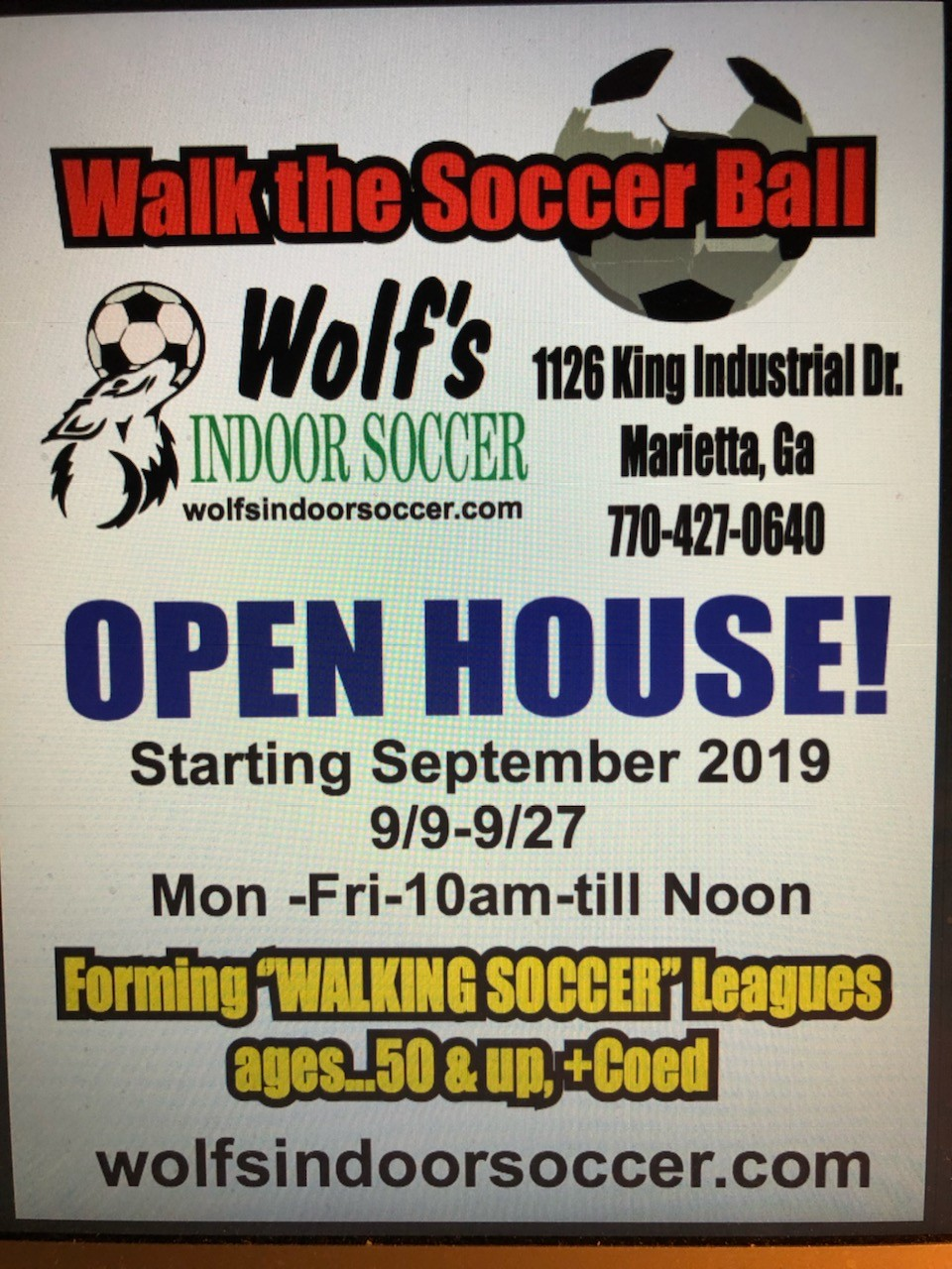 Wolf-Walking Walking Soccer League Forming in North Atlanta