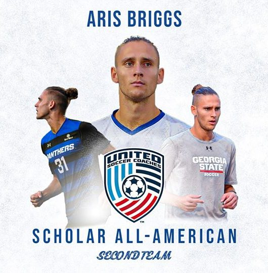 Briggs Named United Soccer Coaches Scholar All-American