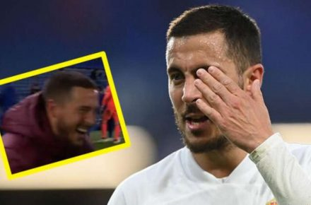 Real Madrid's Eden Hazard apologizes for laughing gesture after social media backlash